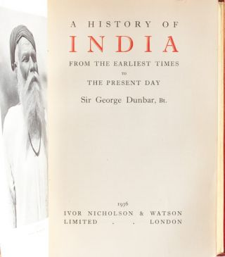 Image 5 of 8 for A History of India From the Earliest Times to Present Day [Cosway style binding