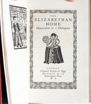 Image 5 of 8 for The Elizabethan Home Discovered in 2 Dialogues [Cosway style binding