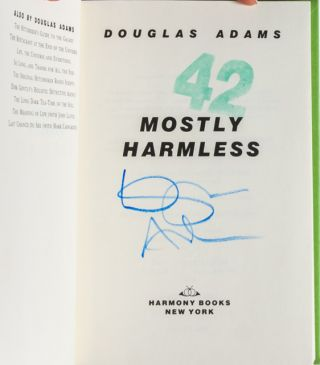 Image 5 of 7 for Mostly Harmless (Signed First Edition