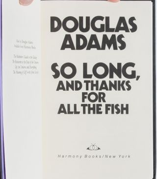 Image 7 of 9 for So Long and Thanks for All the Fish (First Edition Signed