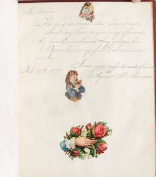 Image 5 of 9 for Literary commonplace book and friendship album of a 19th century California girl...