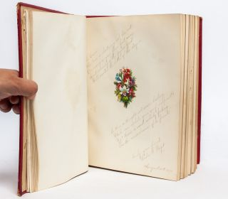 Image 8 of 9 for Literary commonplace book and friendship album of a 19th century California girl...