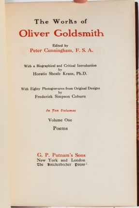 Image 7 of 8 for The Works of Oliver Goldsmith in 10 Volumes (Turk's Head Edition