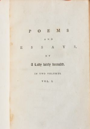 Image 4 of 8 for Poems and Essays by a Lady Lately Deceased (in 2 vols