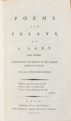 Image 5 of 8 for Poems and Essays by a Lady Lately Deceased (in 2 vols