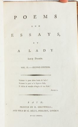 Image 7 of 8 for Poems and Essays by a Lady Lately Deceased (in 2 vols