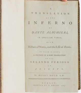 Image 4 of 6 for A Translation of the Inferno of Dante Alighieri, in English Verse. With...