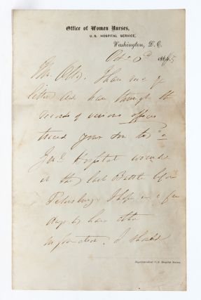 Image 1 of 4 for Handwritten letter helping a father locate his wounded son following the Siege...