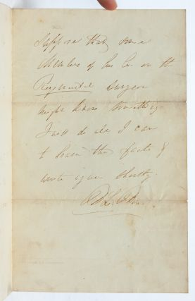 Handwritten letter helping a father locate his wounded son following the Siege of Petersburg
