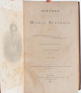 The History of Woman Suffrage (first edition presentation copy)