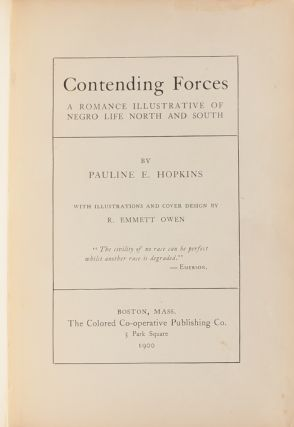 Image 3 of 12 for Contending Forces: A Romance Illustrative of Negro Life in the North and South