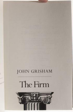 Image 7 of 9 for The Firm (Inscribed first edition