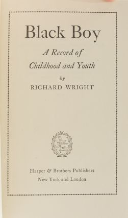 Image 6 of 8 for Black Boy: A Record of Childhood and Youth