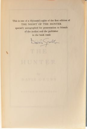 Image 5 of 8 for The Night of the Hunter (First edition signed