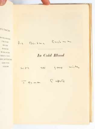 Image 6 of 9 for In Cold Blood (Inscribed