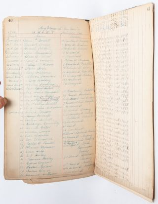 Three ledgers tracing 16 years in the life of a women's philanthropic organization, advocating for veterans and widows