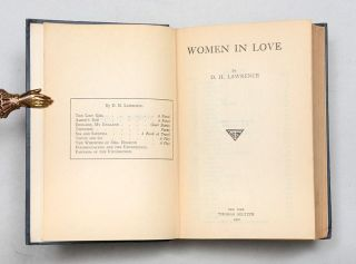 Image 4 of 5 for Women in Love (Presentation copy