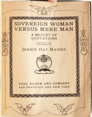 Image 3 of 6 for Sovereign Woman Versus Mere Man. A Medley of Quotations