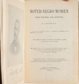 Noted Negro Women, Their Triumphs and Activities