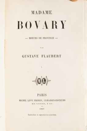 Image 2 of 7 for Madame Bovary (in 2 vols
