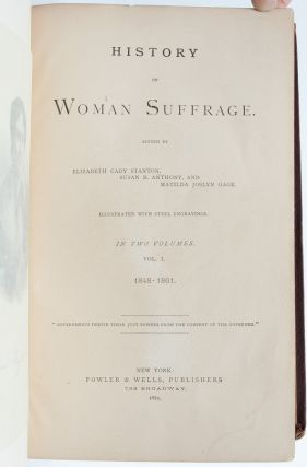 Image 5 of 8 for History of Woman Suffrage (Presentation Copy