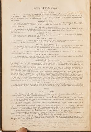 Annual Records of the Epworth League of Kerrville, Texas