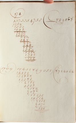 Calligraphic arithmetic book by an unmarried 18th century woman