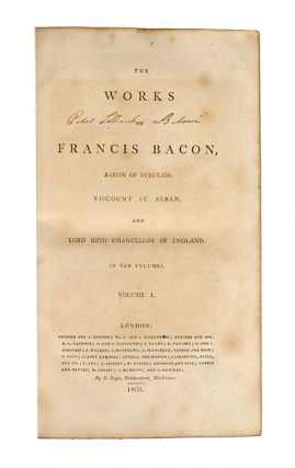 The Works of Francis Bacon (in 10 vols)