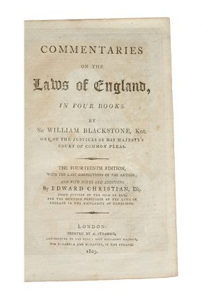Image 2 of 3 for Commentaries on the Laws of England (in 4 vols