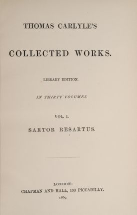 Image 3 of 4 for Thomas Carlyle's Collected Works [With] Translations from the German by Thomas...