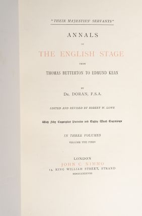 Image 2 of 3 for Annals of the English Stage (in 3 vols