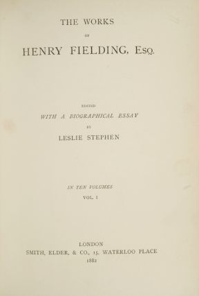 Image 3 of 4 for The Works of Henry Fielding, Esq (in 10 vols