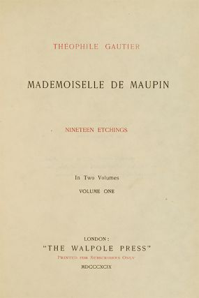 Mademoiselle de Maupin (in 2 vols)