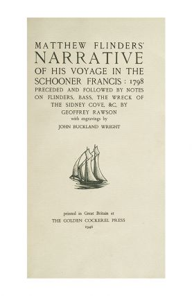 Image 2 of 3 for Matthew Flinders Narrative of His Voyage in the Schooner Francis