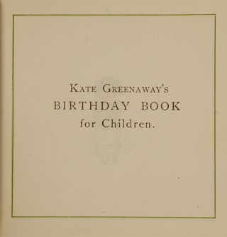 Image 3 of 4 for Kate Greenaway's Birthday Book for Children