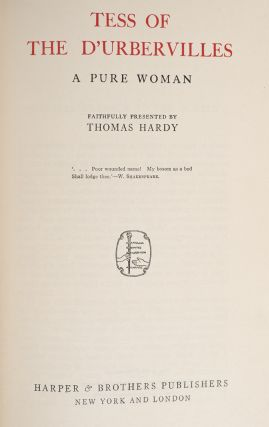 Image 3 of 4 for The Writings of Tomas Hardy in Prose and Verse. With Prefaces and Notes (in 21...