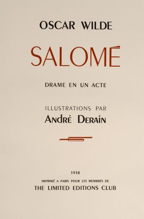 Image 2 of 4 for Salome: A Tragedy in One Act (2 vols