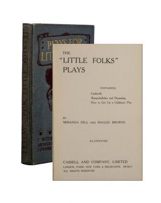 Image 1 of 4 for The Little Folks Plays containing Cinderella, Rumplestiltskin and Dummling: How...