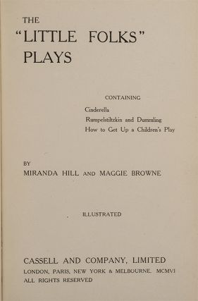 Image 2 of 4 for The Little Folks Plays containing Cinderella, Rumplestiltskin and Dummling: How...