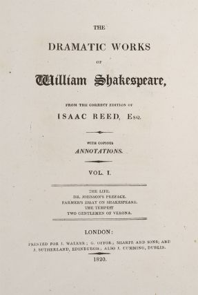 The Dramatic Works of William Shakespeare (in 12 vols)