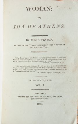 Woman, or Ida of Athens (in 4 vols.)