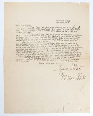 Letters from a prolific dramatic writer to her publisher