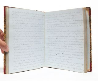 Image 4 of 6 for Manuscript diary documenting a young woman's love of literature and learning,...
