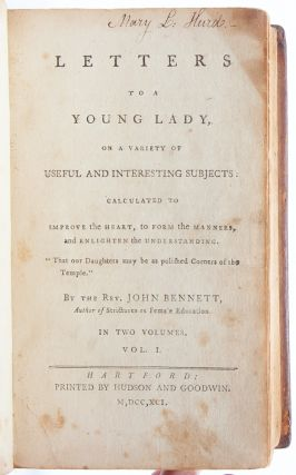 Image 5 of 8 for Letters to a Young Lady on a Variety of Subjects: Calculated to Improve the...
