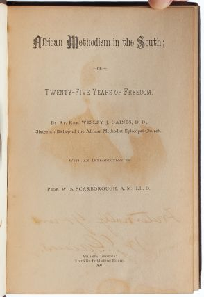 African Methodism in the South; or, Twenty Five Years of Freedom