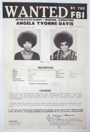 Image 1 of 2 for Wanted by the FBI: Angela Yvonne Davis