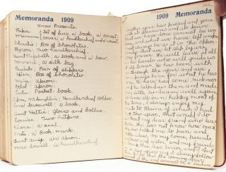 Pair of diaries documenting two important years in the life of a young woman