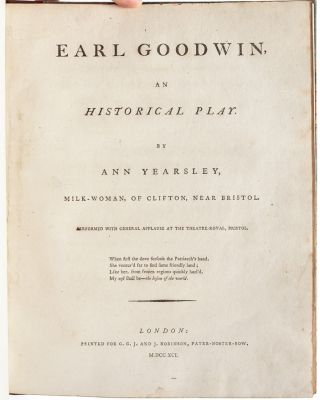 Earl Goodwin, An Historical Play