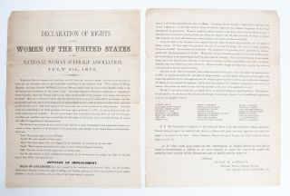 Image 1 of 5 for Declaration of Rights of the Women of the United States by the National Woman...