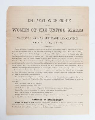 Image 2 of 5 for Declaration of Rights of the Women of the United States by the National Woman...